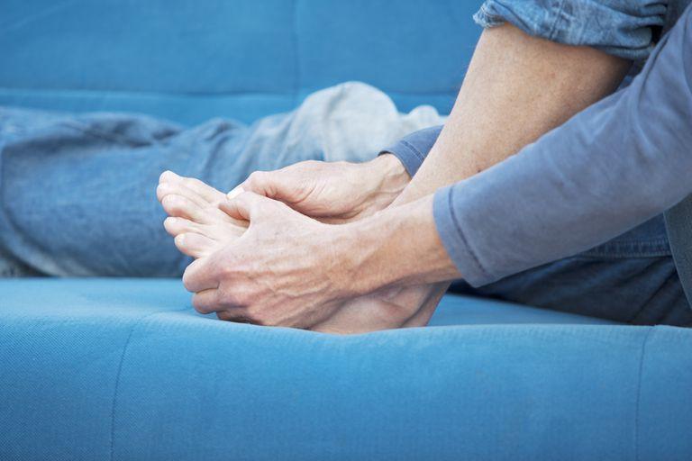 Gonfiore della caviglia nella BPCO da ipertensione polmonare